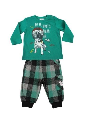 Zeyland Baskılı T-shirt ve Ekose Jogger Pantolon Takım (6ay-4yaş) Baskılı T-shirt ve Ekose Jogger Pantolon Takım (6ay-4yaş) Yeşil